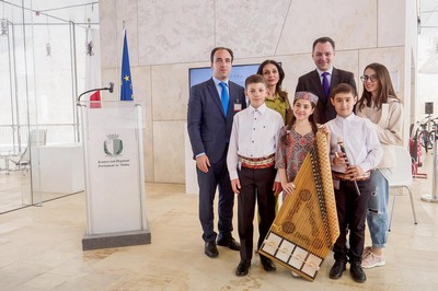 The gifted children from Armenia performed in the Parliament of Malta